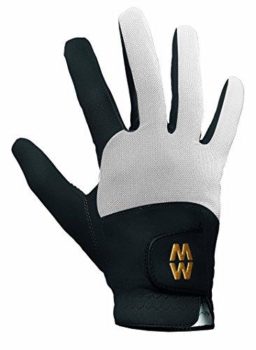 Mens & Ladies 1 Pair MacWet Short Mesh Sports Gloves In 6 Colours - 11.5 Unisex - Black / White