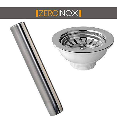 ZeroInox Troppo Pieno mit Tellern – Verschiedene Größen – Edelstahl AISI 304 – für Restaurants, Hotels.