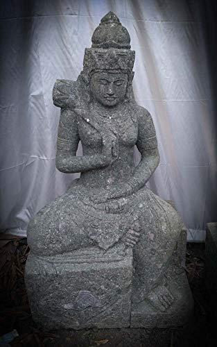 wanda collection Estatua Grande de jardín Zen Diosa balinesa de Piedra 1 m
