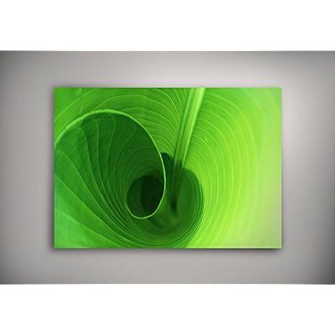 Natura 016, Turbinio Verde, Poster Autoadesiva di Vinile Manifesto Design Art Foto Deco Print Immagine con Disegno Colorato. Dimensione: 27
