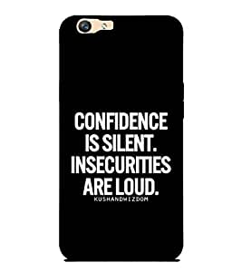 Takkloo motivational quote wonderful saying, quote on confidencecover with quote, cover with saying) Printed Designer Back Case Cover for Oppo F1s