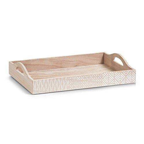 Zeller 15110Bandeja Nordic, madera/mdf, natural, 40x 28x 8cm