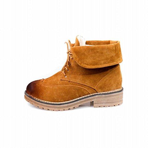 Shoes mehrfarbig Shoes Dunklegelb Damen chunky heels Stiefel Damen mehrfarbig kurzschaft chunky Mee Mee Stiefel kurzschaft heels xxYqf78