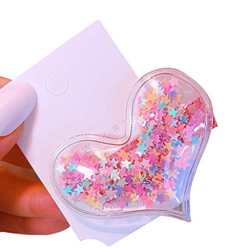 VIccoo Korean Baby Girl Cute Glitter Quicksand Pailletten Haarspangen Paillette Heart Star Transparent Entenschnabel Haarnadeln Geburtstag Haarspangen - (Cute Easy Baby Kostüme)