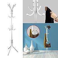 Coat Stand, TeqHome Hat Coat Rack Hangers, Metal Clothes Rack Hooks 12 Hooks 175cm for Umbrella Hat Storage Bedroom Hallway Free Standing Heavy Kids