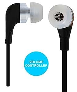 Jkobi Volume Control With Mic Handsfree Earphones Compatible For LG Fx0 -Black