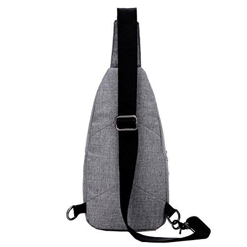 Yy.f Neue Segeltuchbeutel Art Und Weise Mannschulterbeutel Brusttasche Gezeiten Messenger Trend Der Casual Taschen Sportpaket 3 Farbe Black