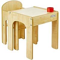Preisvergleich für Little Helper Original Holz Fun Station Kleinkind Tisch und Stuhl Set mit Stifthalter (Natur)