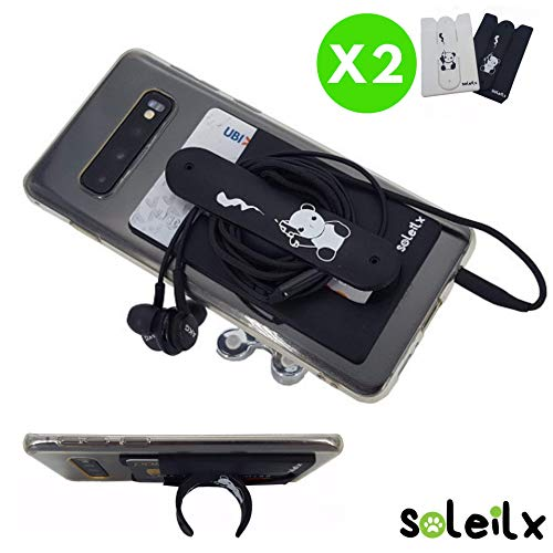 Soleilx - Soporte universal para smartphone    El producto ideal para aquellos que no tienen intención de llevar una cartera completa y llena de tarjetas. Por lo tanto, hemos desarrollado este innovador soporte para teléfono móvil, que puedes pega...