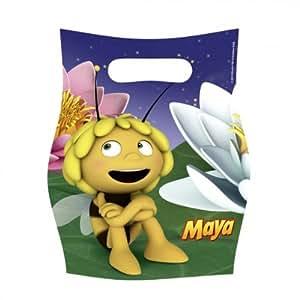 Kit de Fête anniversaire Maya l'abeille : 6 invitations, 6 sacs et 54 cadeaux pour les invités