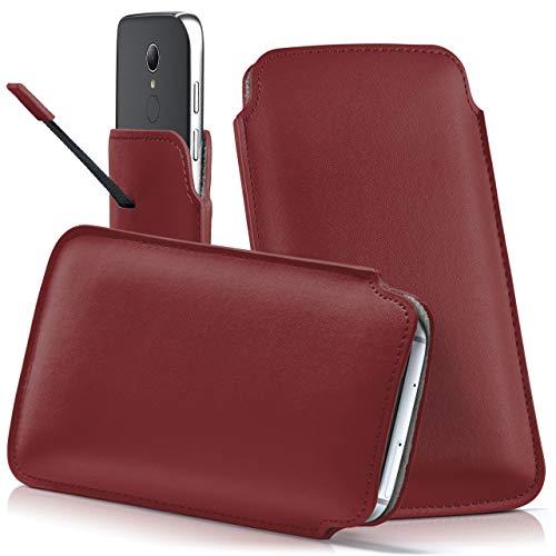 moex HP Elite x3 | Hülle Rot Sleeve Slide Cover Ultra-Slim Schutzhülle Dünn Handyhülle für HP Elite x3 Case Full Body Handytasche Kunst-Leder Tasche