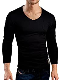 Grin&Bear Slim Fit deep O-Neck rugged T-Shirt, BH129