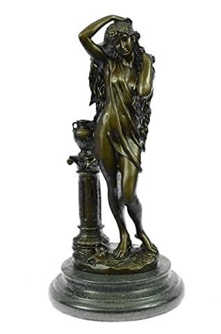 Handmade Bronze Skulptur Bronze Statue Klassische Patoue Weibliche Figur Nude Bookend Marmor Geschenk-JPyrd-008A- Decor Sammler Geschenk
