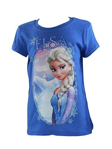 Frozen Elsa Selfie, T-Shirt da bambino aderente Royal Blue Girls, X-Small (4-5)