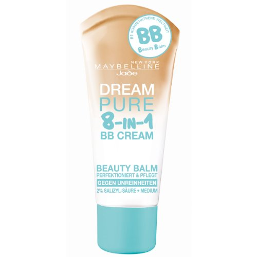 Maybelline Dream Pure 8-in-1 BB Cream For Oily Skin SPF15 30ml - Medium