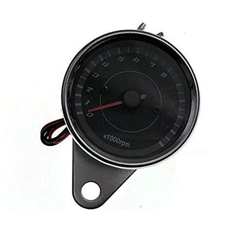 poetryer Tachometer Drehzahlmesser Retrofit Induktivität Motorrad Tachometer LED gebaute Metallhülle