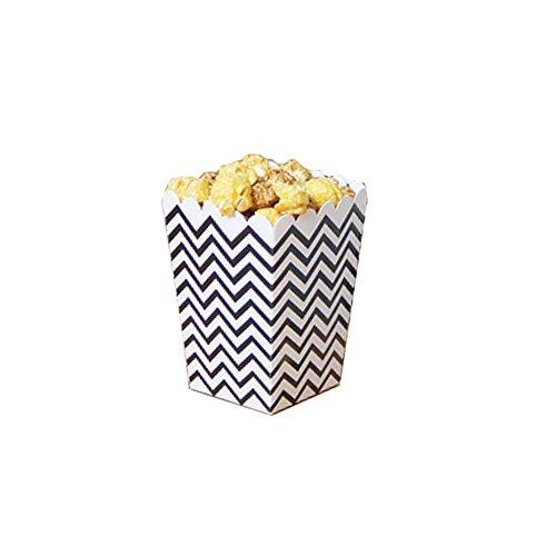 Black Temptation Film-Theater Popcorn-Boxen Party-Boxen - Schwarze Wellen - 12PCS