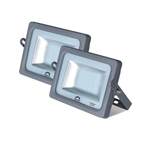 Pack de 2 Focos LED Exterior MERCURY Gris · Proyector LED Extraplano...
