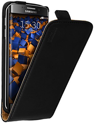 mumbi PREMIUM Leder Flip Case für Samsung Galaxy S6 Edge Tasche
