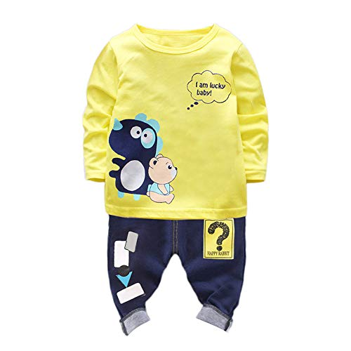 MEIbax Kleinkind Baby Tiere Kleidung 2 STÜCKE Langarm T-Shirt Pullover + Hosen Outfits Set