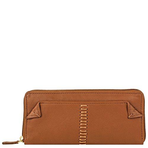 Hidesign Damen Geldbörse Stitch Leder Zip Around Geldbörse Tan -