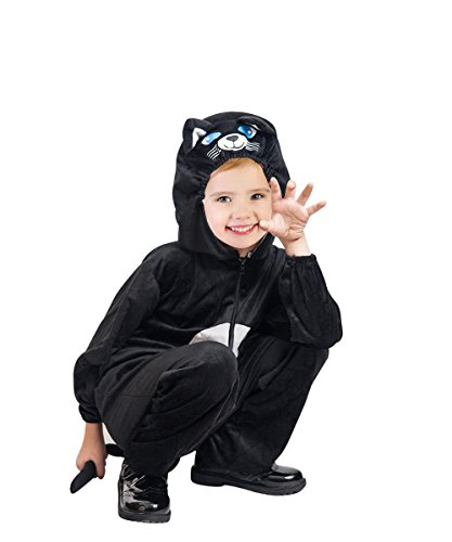 Katzen-Kostüm, F126 Gr. 104-110, für Kinder, Katzen-Kostüme Katze -