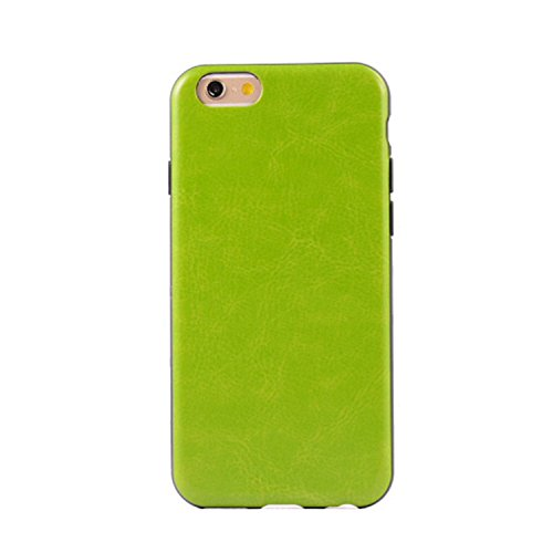 JIALUN-Telefon Fall IPhone 6 6S Fall, bunte Muster Kunstleder Stil Soft Case TPU + PC 2 In 1 Material Haut Abdeckung Fall Für IPhone 6 6 S ( PATTERN : Red , Size : IPhone 6/6S ) Green