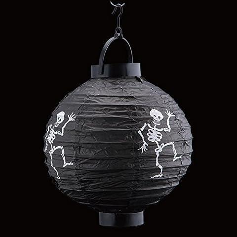 Luz colgante decoración de Halloween calabaza ZN lámpara linterna de papel decorativa del partido