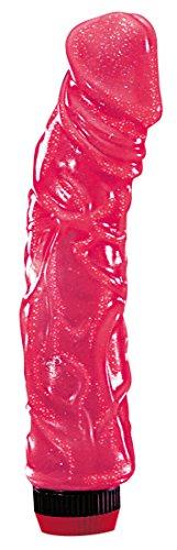 Großer pinker Big Jelly Vibrator XL für Sie, kraftvolle Stimulation durch stufenlos regulierbarer Vibration