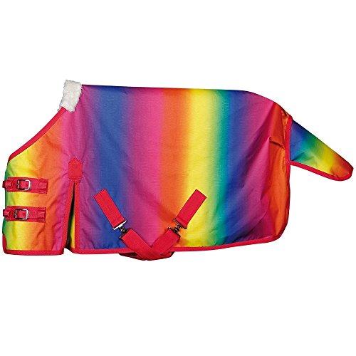 netproshop Pferd Zubehör Ungefütterte Regendecke Design Rainbow Auswahl, Groesse:100