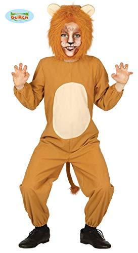 Guirca costume leone mago di oz animali carnevale bambino bambina 3-4 anni