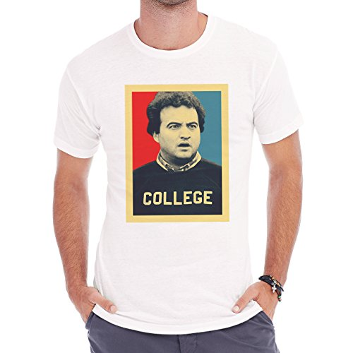 John Belushi College Obama Poster Herren T-Shirt Weiß