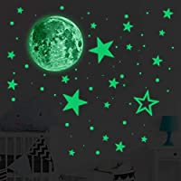 Glow In The Dark Stickers, 435pcs Luminous Dots Stars and Moon Wall Stickers DIY Wall Decal Murals for Nursery Baby Kids Bedroom Living Room Decoration
