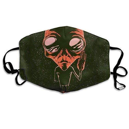 Preisvergleich Produktbild Vbnbvn Unisex Mundmaske, Wiederverwendbar Anti Staub Schutzhülle, Gesichtsmaske Alien Says Hi Anti Pollution Washable Reusable Mouth Masks for Man Woman