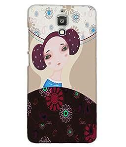 Fuson Nice Girl Back Case Cover for XIAOMI MI 4 - D3923