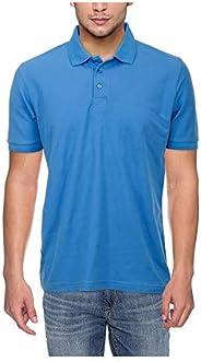 Neuve Polo Neck Tshirt For Men, Sky Blue, Cotton