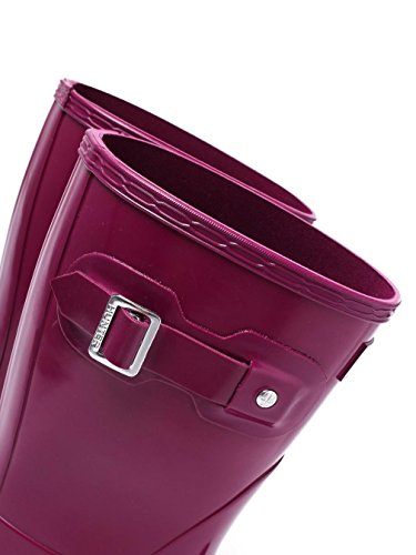Hunter Womens Original Short Gloss Damen Gummistiefel Purple