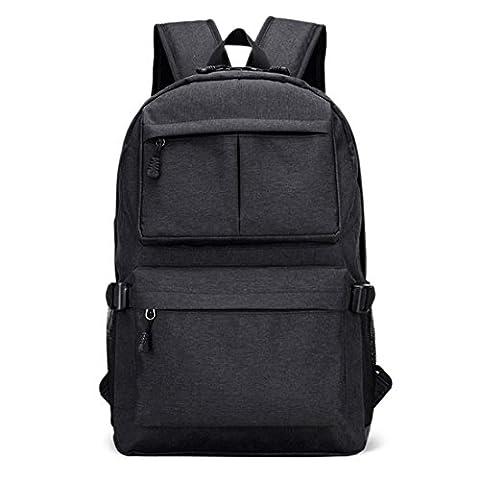 Rucksack Herren Damen Schulrucksack Rucksäcke Wasserfeste Schul-Reise Tasche mit USB Ladestation (Herren Rucksäcke)