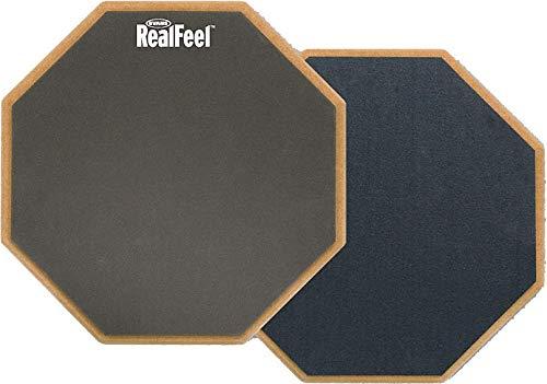 Evans RF12D RealFeel Acoustic Drum Übungspad 2-Seitig Grau, 12 Zoll