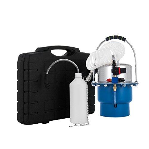 PhenixGa Purgeur de Freins en Kit Pneumatique Automatique Appareil de Purge de Frein Outils Moto Voiture (Bleu)