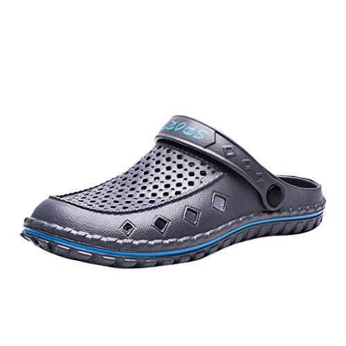 AIni Herren Schuhe,Mode Beiläufiges 2019 Neuer Heißer Wilden Sommer atmungsaktiv einbeinigen Loch Schuhe Strand Sandalen Strand Partyschuhe Freizeitschuhe(45,Grau)