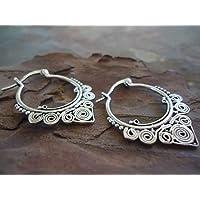 ✿ SPIRAL CREOLEN ✿ grandi orecchini borchiati, Antiallergico,