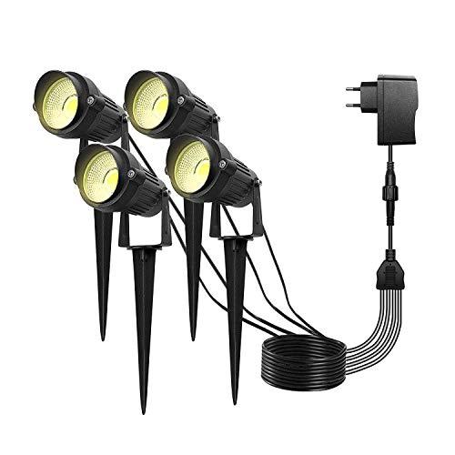 LED-Gartenleuchten Warmweiß IP65 Wasserdichte Bodenwände Scheinwerfer Dekoratives Licht Niederspannungs-Landschaftslicht 4 Packs