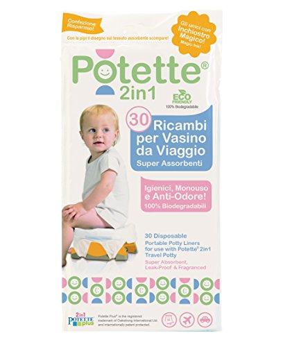 Ricambi per Potette Plus 2 in 1 - Pacco da 30 Bustine Usa e Getta per Potette Plus