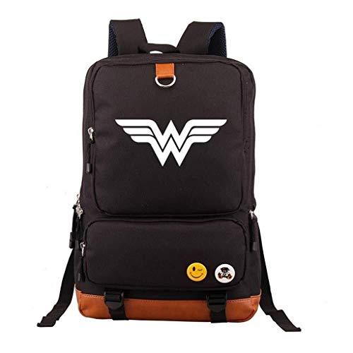 2 Kostüm Ipad - GTYY Wonder Women Rucksack Cosplay Kostüm Sportausrüstung ReisetascheSchulter Daypack Tasche for Erwachsene & Jugendliche Im Freien Requisiten Schultaschen Casual (Color : 17inches, Size : 2)