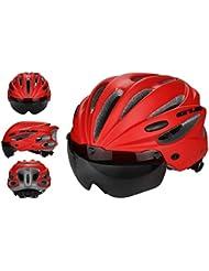 ZLK Casco De Bicicletacasco De Ciclismo Gafas Magnéticas Casco para Hombres Y Mujeres con Casco De Bicicleta De Carretera con Lentes De Visera