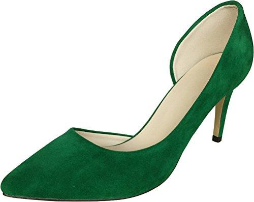 CFP ,  Damen Durchgängies Plateau Sandalen mit Keilabsatz Grün