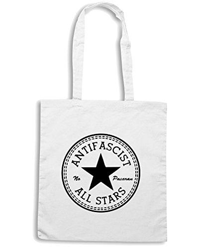 T-Shirtshock - Borsa Shopping TCO0019 allstars antifascist Bianco