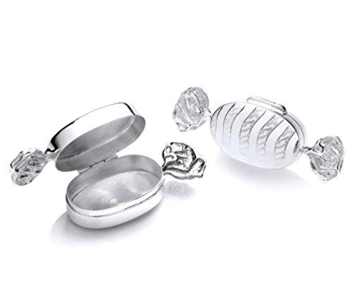 925Sterling Silber Fancy Sweetie–Bonbon Schmuckdose–Pillendose. 12,5g