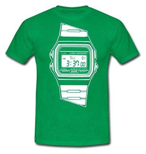 T-Shirt Quarzuhr Uhr Retro 80ziger Wecker Stopuhr Gr. M
